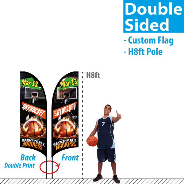Double Sided Feather Flags (view image)