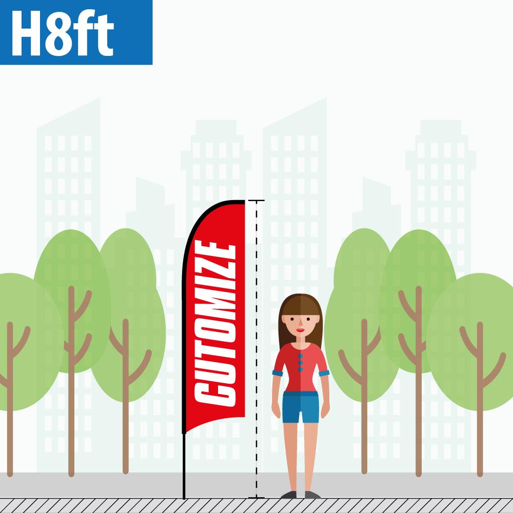 Regular Size H8ft Pole - Custom Feather Flags (one-economy.com)